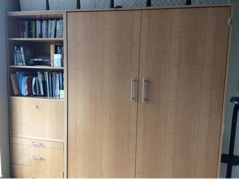 Murphy Wall Bed Queen Size Light Maple Victoria City Victoria