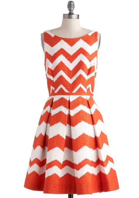 zig zag pattern dress at every pattern dress in orange zigzag orange white