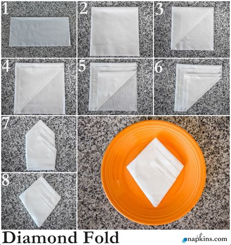 Easy Ways To Fold Paper Napkins - napkin fold how to fold a napkin