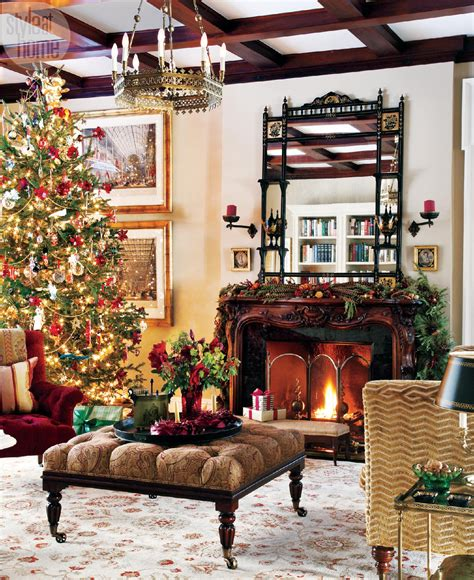 traditional christmas decorating ideas home ifresh design гостиные в рождество home and garden