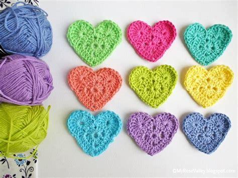 easy crochet heart pattern uk my rose valley sweet heart crochet pattern