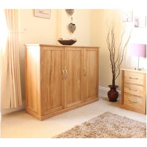 Cupboard For Hallway mobel solid oak large shoe cupboard hallway storage furniture ebay