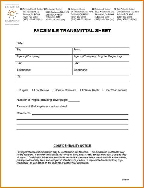 Cover Letter Transmittal Form 8 Fax Cover Sheet Form Financial Statement Form