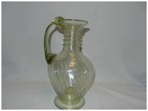 vintage glass ls vintage hand blown art glass pitcher my grandmother had