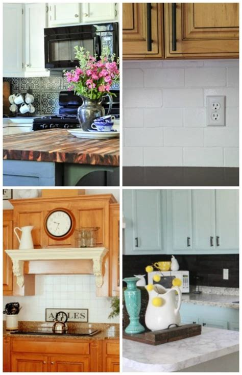 15 unique diy kitchen backsplash ideas to personalize your cooking space 15 unique creative diy backsplash ideas artsy chicks