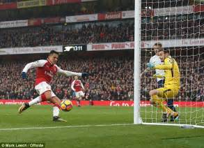 alexis sanchez goals 2017 18 arsenal 2 0 tottenham player ratings onlinenigeria com