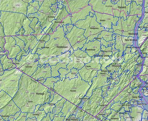 zip code map orange county orange county ny zip codes middletown ny zip codes