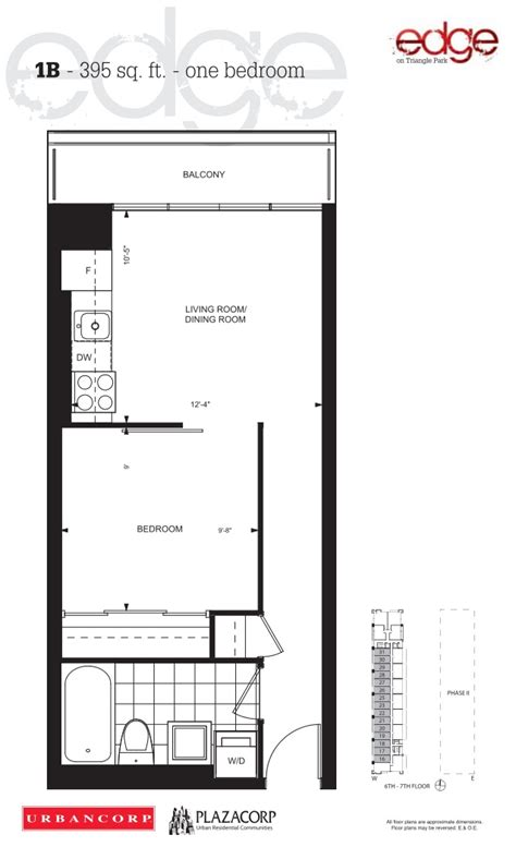 Condo Floor Plans Toronto by Edge On Triangle Park Condos Edge Condos Floor Plan