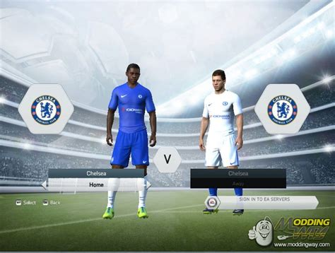 chelsea fifa 18 chelsea fc 2017 18 kit pack for fi xiv 15 fifa 15 at