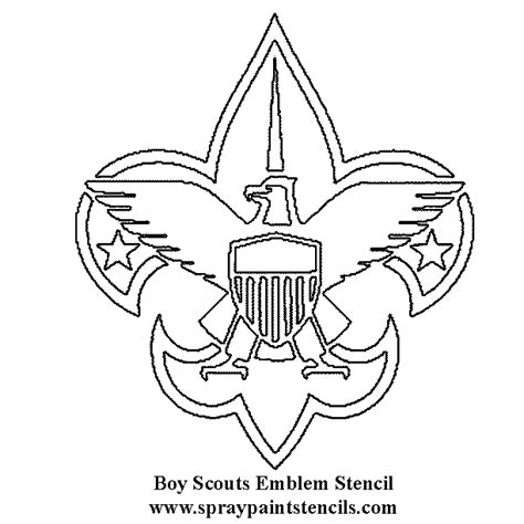 Scout Logo Outline by Free Coloring Pages Of Boy Scout Symbols