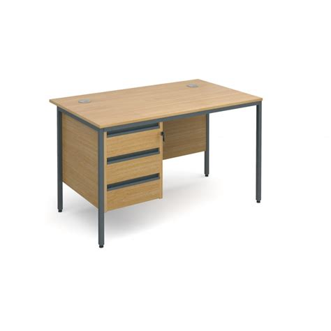 office desk with drawers beech office desk with drawers pedestal 1228mm