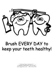 dental health coloring sheets google search preschool