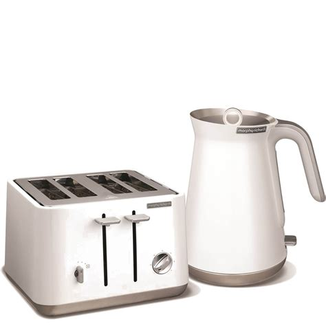 White 4 Slice Toaster And Kettle Set White Brunch Set Kettle Toaster Coffee Filter Prezzo E