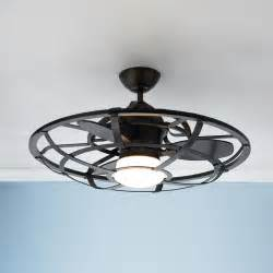 Ceiling Fan With Cage Light Industrial Cage Ceiling Fan Industrial The White And Style