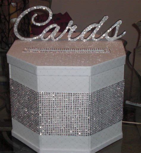 diy card box bling cardbox weddingbee diy projects diy wedding