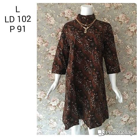Tunik Shibori tunic batik wanita proses cap motif sogan halus 18 4 batik pekalongan by jesko batik