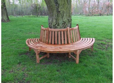 diy half circle bench solid teak circular tree seat half