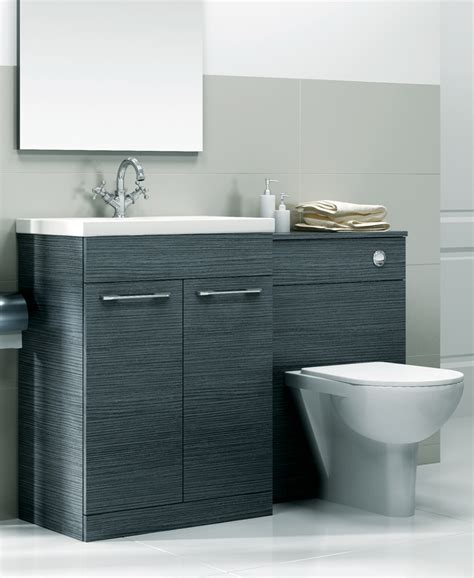 Combined Bathroom Vanity Units by Grey Slimline 60cm Combination Unit 2 Door