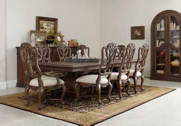 Adagio Dining Room by Adagio Rectangular Pedestal Dining Room Set By