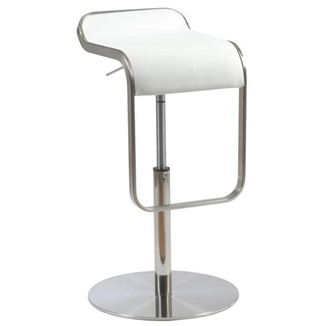 gia adjustable stool white leather contemporary bar freddy leather adjustable bar counter stool white leather