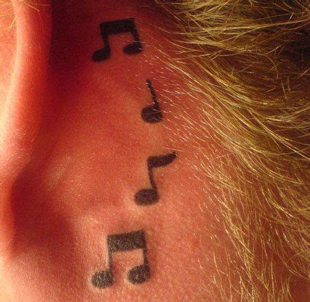 music note tattoo designs behind ear 50 best images about my collection on