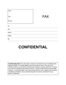 cover letter confidential fax cover sheet template printable fax cover page sle