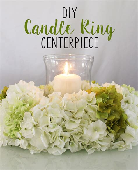 Diy Candle Ring Centerpiece Candle Rings Silk Flowers Candle Floral Centerpieces