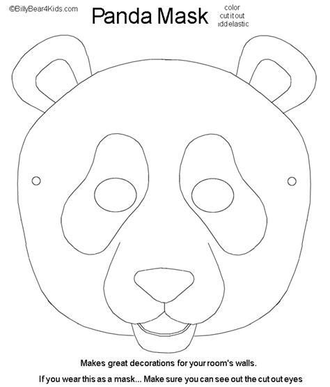 Masker Panda panda mask cut color carnaval masks