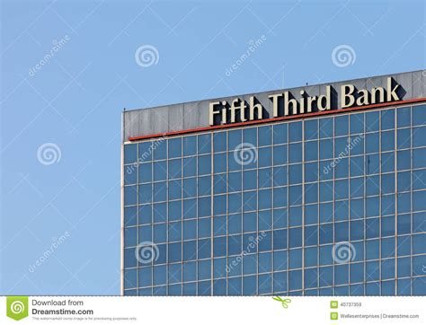 Fifth Third Bank Gift Card - fifth third bank editorial stock image image 40737359