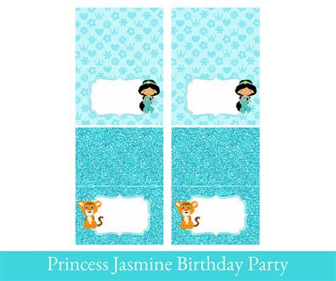 printable princess jasmine thank you cards princess jasmine tent cards tent cards printable foldable
