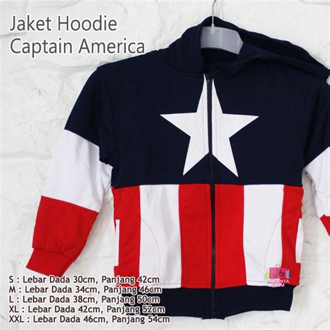 Jaket Anak Captain America Triangle jaket hoodie anak captain america magenta room