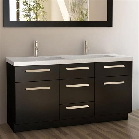 dark wood vanity bathroom design element j60 ds moscony 60 in double sink bathroom