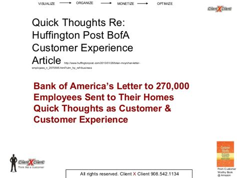 Customer Experience Letter Customer Experience Letter Bank Of America Thoughts