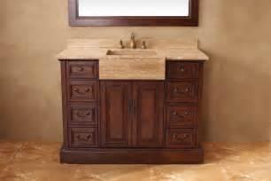 48 inch single sink bathroom vanity in cherry