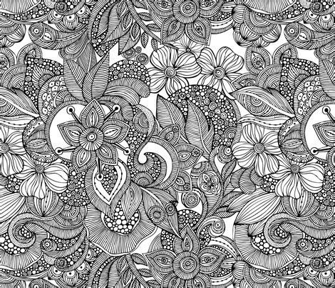 Custom Doodle doodles fabric by valentinaharper on spoonflower custom