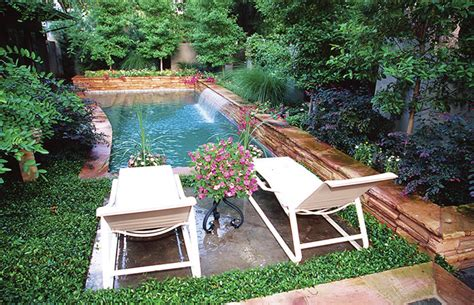 Pool Natural Backyard Decorating Ideas Small Backyard Small Backyard With Pool
