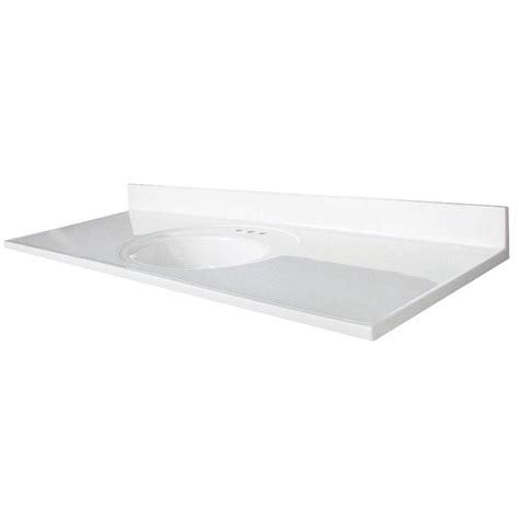 61 vanity top single glacier bay newport 61 in marble vanity top in white with