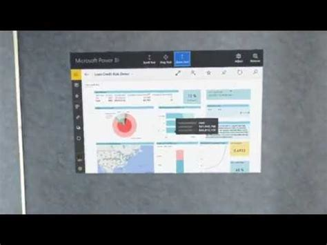 risk dashboard demo power bi dashboard hololens credit risk demo