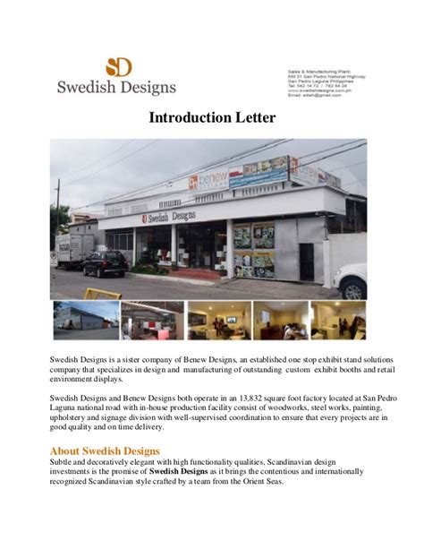 Introduction Letter For Painting Business Swedish Designs Introduction Letter
