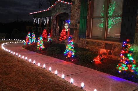 christmas light garden stakes christmas decorating