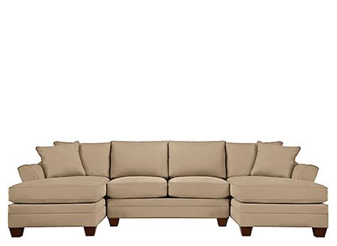 foresthill sectional foresthill 3 pc microfiber sectional sofa peat