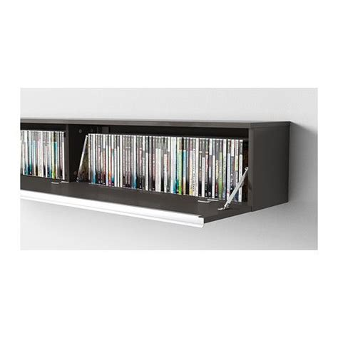 ikea besta wall shelf sektion high cabinet w pull out organizers brown