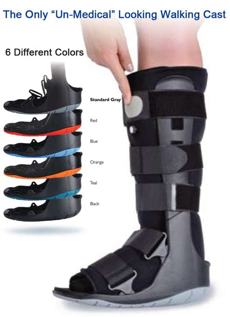 air walking cast boot choice of color cast walking