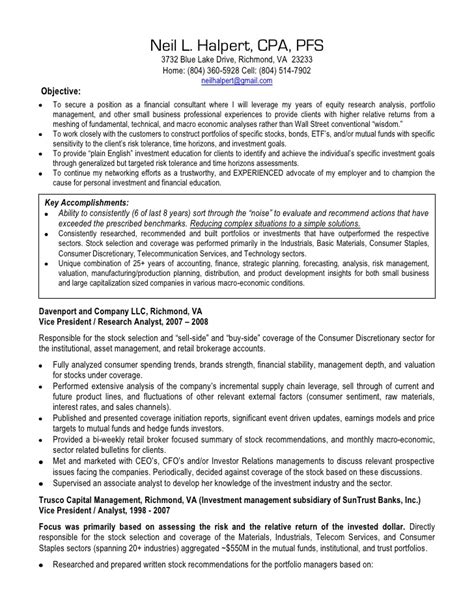 Cpa Resume by Neil Halpert Cpa Resume Broker Dealer