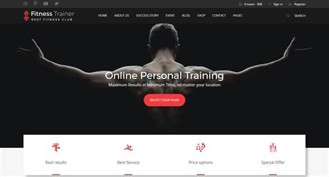 Top 10 Best Premium Gym Fitness Sports And Bodybuilding Website Templates Our Code World Fitness Trainer Website Templates