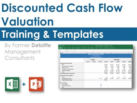 Discounted Cash Flow Model Template In Excel By Ex Deloitte Consult Discounted Flow Template