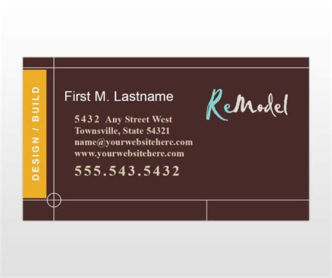 home renovation remodeling business card templates