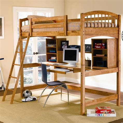 Bedroom Beautiful Bunk Bed With Desk And Chair For Kids Bunk Bed With Computer Desk