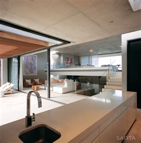 split level house interior split level beach house in south africa by saota design milk