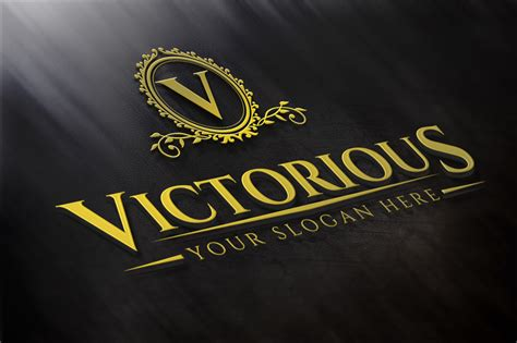 victorious luxury logo logo templates on creative market